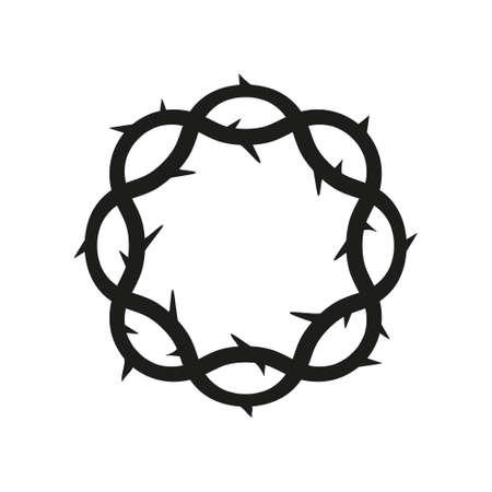 Crown of thorns, easter religious symbol of Christianity vector illustration. Vektorové ilustrace