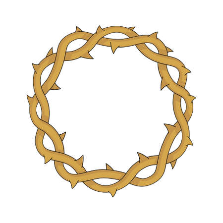 Crown of thorns, easter religious symbol of Christianity vector illustration. 版權商用圖片 - 105937674