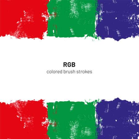 Illustrazione di vettore di tratti di pennello colorato RGB