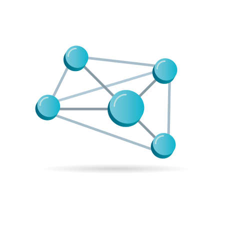 Network 3D Symbol, Vector Illustration