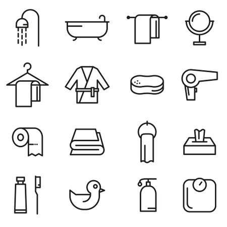 Bathing Vector Icon Set Ilustração