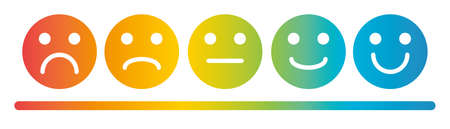 Emoji Colored Flat Icons Vector Set. Sad and Happy Mood Icons. 向量圖像