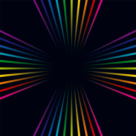 Multicolored lines. Colorful lines background Illustration