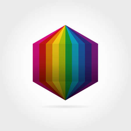 Logo d'icône hexagone dégradé de couleur lisse. Illustration vectorielle pour votre projet de conception Logo