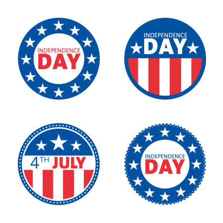American independence day label design set.