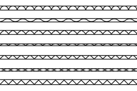 set of seamless borders. Vector design elements Standard-Bild - 118082583