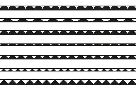 set of seamless borders. Vector design elements