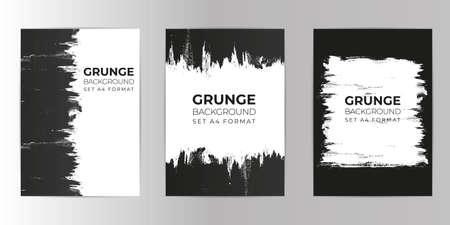 Grunge hand drawn background set A4 format. Watercolor Texture background. Vektorgrafik