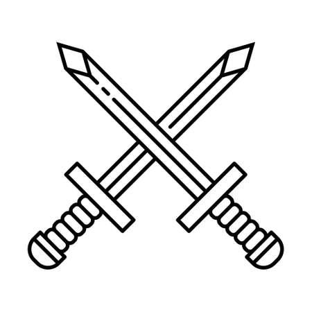 Crossed Sword Icon Vector