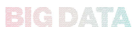 Big Data with binary texture vector illustration.