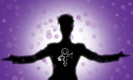 prin: silueta del príncipe con su icono y un mar de burbujas