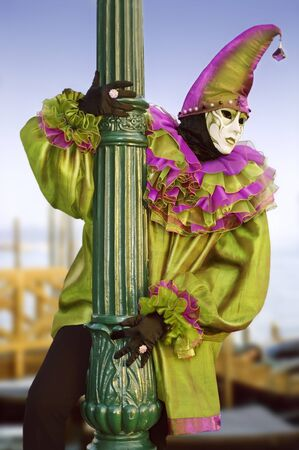 Costume in the carnival of Venice, Italy. Stock Photo