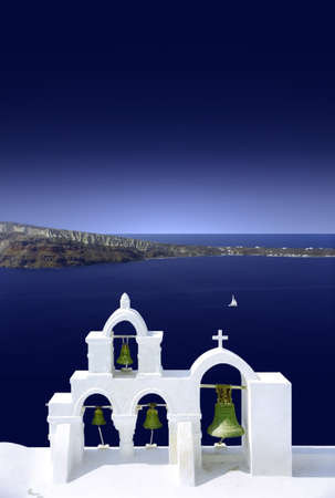 Church near the sea in the Greek Islands.