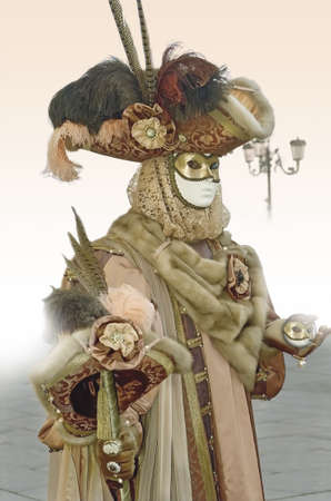 Man dressed in the carnival of Venice, Italy.