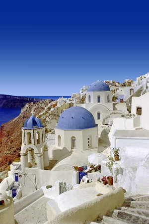 Domes with views of the Cyclades islands.