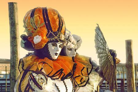 solemnity: Tramonto al Carnevale di Venezia. Archivio Fotografico