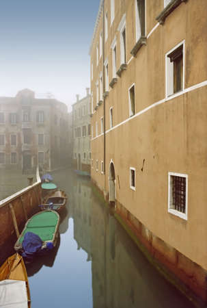 Mist and mistery in Venice city, Italy.