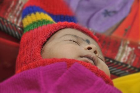 Several international organizations help to the children in the south of India. One of this organizations care to the babies in Anantapur. They obtained one nomination to Nobel prize in 2010.  2-11-2010 Stock Photo - 9205520
