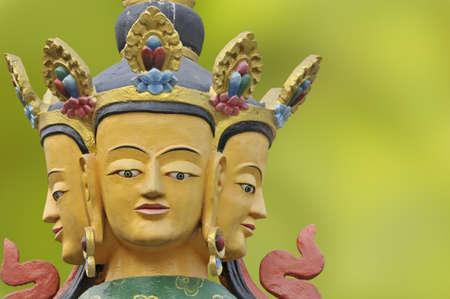 Statue in the garden in a budist temple.  Stok Fotoğraf