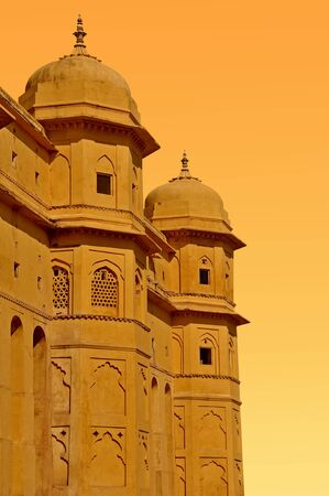 Hindu palace in the north of India. Stock Photo - 9284446
