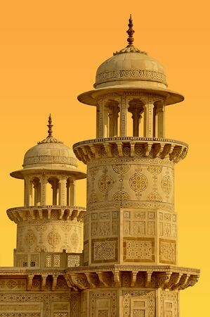 Towers in the old town of Agra, India.
