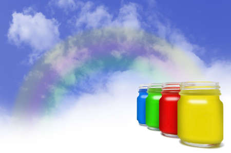 Paint your life with many happy colours. photo