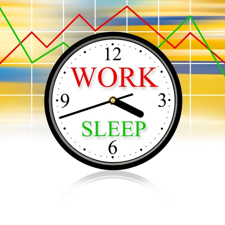 workday: Work and sleep: this is our life.