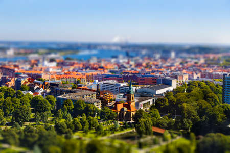 Located in northern Denmark, Aalborg is the fourth largest city in the country Stock Photo