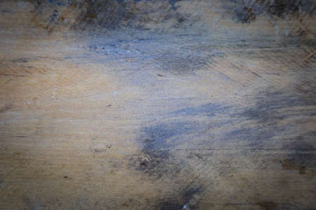 Wooden table aged by the passage of time