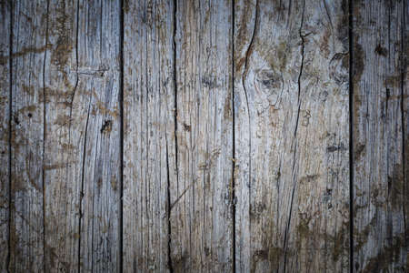 Detail of cracks caused by the passage of time on an old wooden board Stock Photo