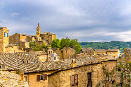 Amazing landscape with old town of Orvieto