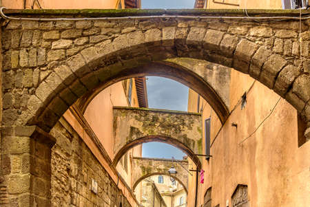 Amazing landscape with the street in Viterbo