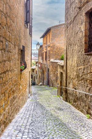Amazing landscape with street in Orvieto Stock fotó