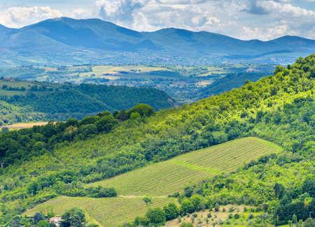 Amazing landscape near Orvieto, Italy, region Umbria
