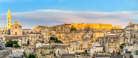 Amazing landscape with Matera, Italy - European capital of culture in 2019.