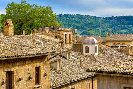 Amazing landscape with roofs of old town of Orvieto, Italy