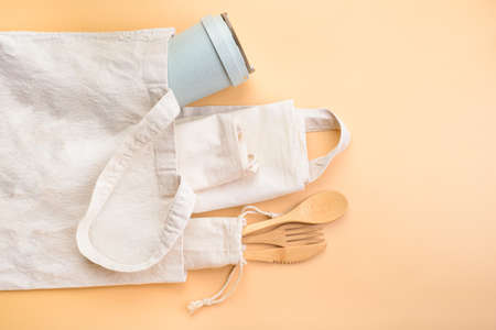 Zero waste accessories. Eco freindly life concept.