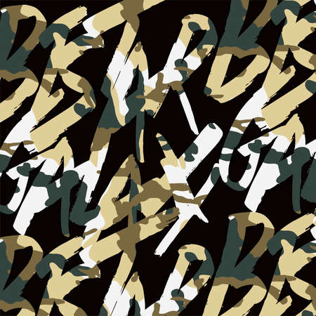 hiphop: Camouflage graffiti printing letters