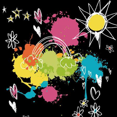 Colorful background design Illustration