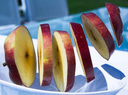 levitating: Levitating apples Stock Photo