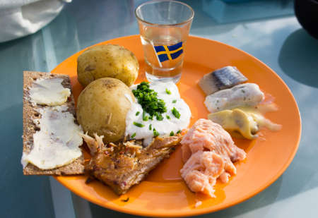 Swedish Midsummer lunch Standard-Bild