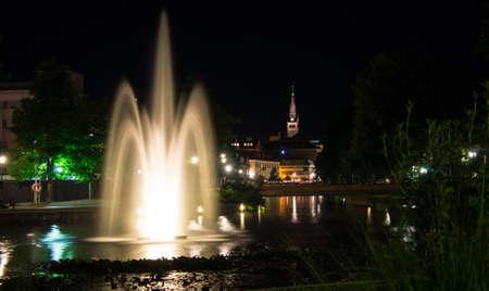 City park fountain, Borås Sweden Standard-Bild