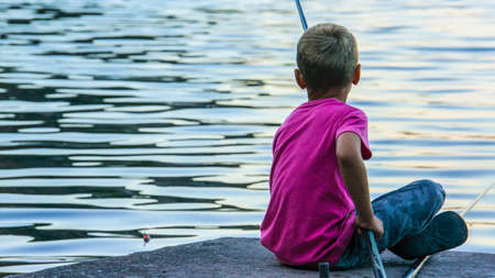 Boy Fishing photo