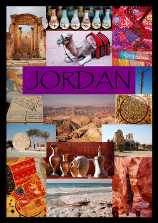 A collage that represents all the major attractions of Jordan photo