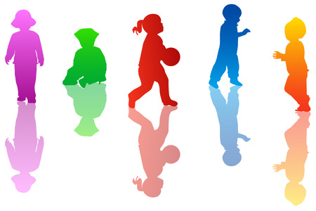 fondly: Kids silhouettes