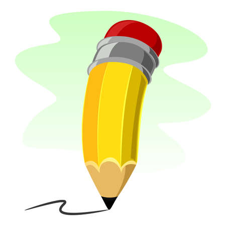 Vector Illustration of Pencil Illusztráció