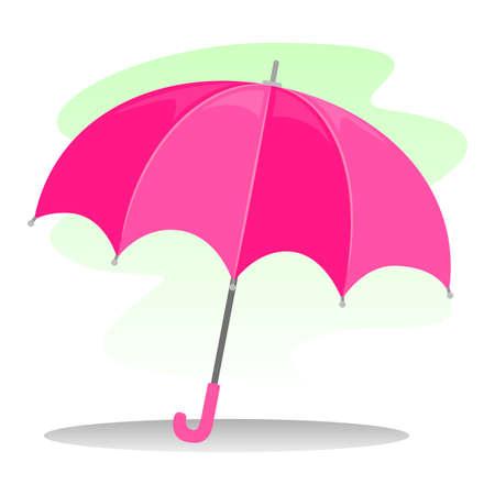 resistant: Vector Illustration of a Pink Umbrella