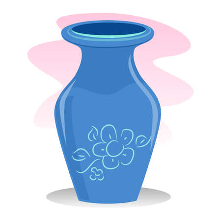 earthenware: Vector of a Blue Vase