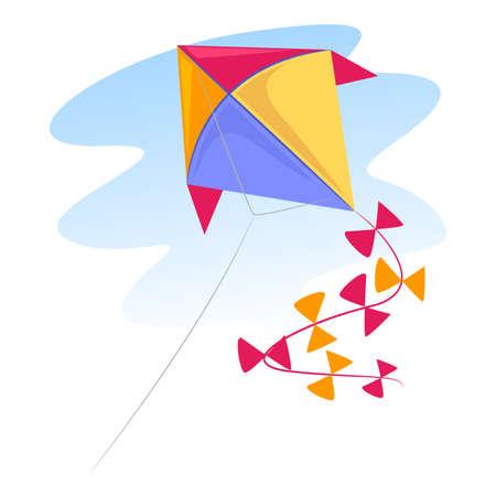 カラフルな凧のベクトル イラスト  イラスト・ベクター素材