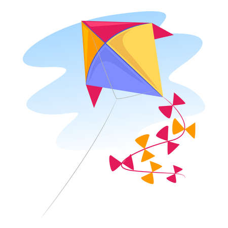 Vector Illustration of a colorful Kite Vettoriali